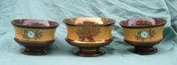 3 kastkommen, o. a. met goudsteen