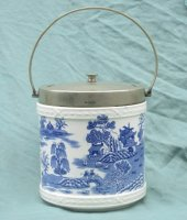 Best Staffordshire Pottery koekdoos met Blue