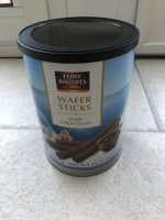 Blik Feiny Biscuits wafer sticks dark