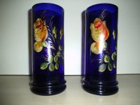 Antiek/Vintage - Koppel glazen art-nouveau vazen