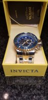 Aangeboden: New : Invicta Sea Hunter lll Full Size 70mm Staal / Goud € 499,-