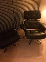 Aangeboden: Rundlederen loungechair+voetenbank set. Zwart Nieuw € 726,-