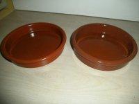 Antiek/Vintage - Koppel aardewerk schoteltjes (