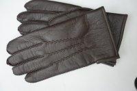 Vintage zwarte leren dameshandschoenen maat 10