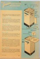 Oude handleiding van Hoover wasmachine