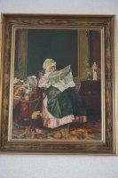 Vrouw leest de krant