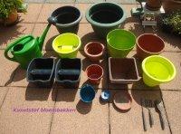 Div. gebruikte bloempotten (kunststof, aardewerk en