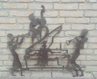 Jazz muziekband muziek smeedijzer wanddecoratie band