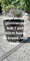 Aangeboden: Zwarte Glimmende Planten Bak / Pot € 10,-