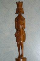 Houtsnijwerk uit Kenia Vrouw hoogte 31