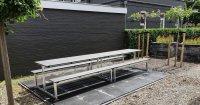 Picknicktafel onderhoudsarm, Staal en composiet picknickbank