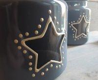 Leuke potten met doorschijnende ster voor