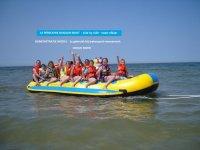 Aangeboden: Opblaasbare BANAAN-Boot OCEAN RIDER prof. voor 14 personen € 2.000,-