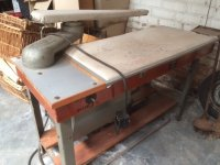 Professionele oude strijktafel Aspiromat