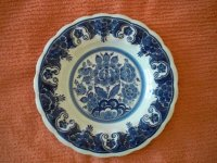 Handgeschilderd Delfts Blauw Wandbord - Distel