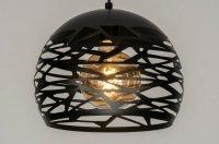 Stoere hanglamp zwart of raw staal