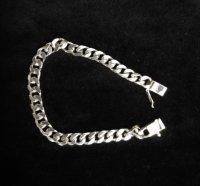 Zilveren massieve gourmet schakelarmband