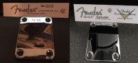 Aangeboden: Fender Strat of Telecaster neckplate met serie incl.decal met zelfde serienummer € 15,-