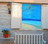 Aangeboden: Ook uw wand-/tuin-schildering t.e.a.b.