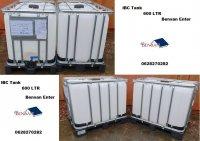 Aangeboden: Watertank 1000 ltr ibc tank vat vaten regenton Bensan Enter n.o.t.k.