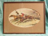 Litho van ca. 1880 - Paarden