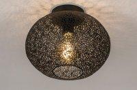 Plafondlamp metaal zwart keuken salon tafel