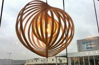 Aangeboden: Hanglamp hout 61cm landelijk eettafel tafel salontafel lamp n.v.t.