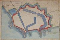 Antieke vestingplattegrond van Vlissingen - 17e