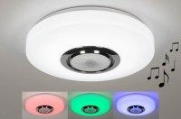 Aangeboden: RGB led bluetooth speaker kleur badkamer plafondlamp lamp € 69,90