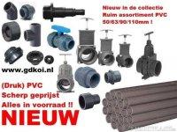 Alle PVC voor aansluiten van filters,pompen
