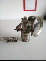 Fiets Carbidlamp.