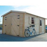 Tuinhuis-Blokhut garage traditional (S8944): 3580 x