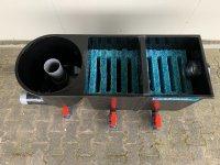 Aangeboden: Meerkamerfilters, compleet gevuld , incl, vuilaftapkranen € 519,-
