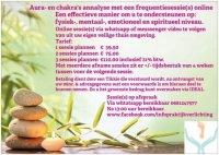Aangeboden: Aura-chakr`s analyse met frequentie therapie online € 39,50