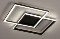 Aangeboden: Led zwart plafondlamp badkamer keuken tafel bed dimbaar lamp € 99,90