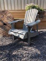 Mooie houte veranda stoel, kleur grijs.-tuinstoel-hout