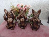Franse Bulldog beeldjes set van 3