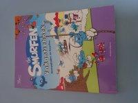 De smurfen vakantieboek Sneeuwballen en smurfen